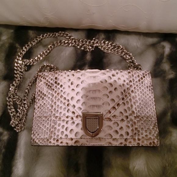 afb9eaa5716b Christian Dior Handbags - Christian Dior diorama mini bag in snakeskin